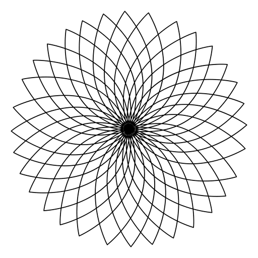 Sacred geometry vector png. Lotus flower transparent svg
