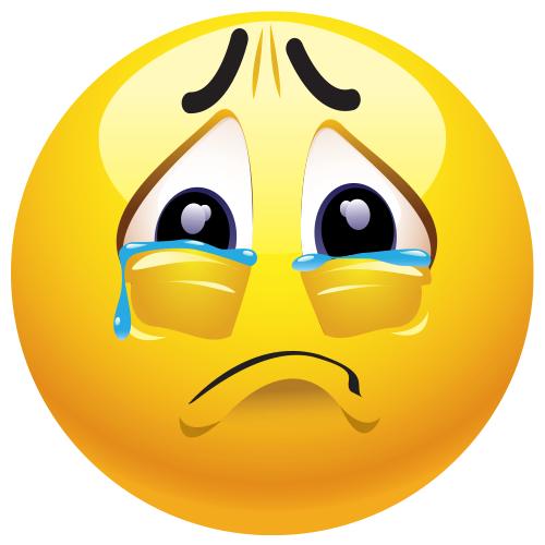 Sad clipart. Emoji