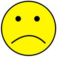 Yellow face . Sad clipart