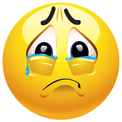 Sad clipart. Emoji png mart
