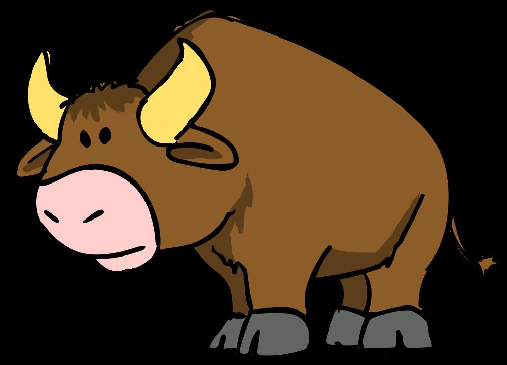Sad clipart rhino. File bull cartoon svg