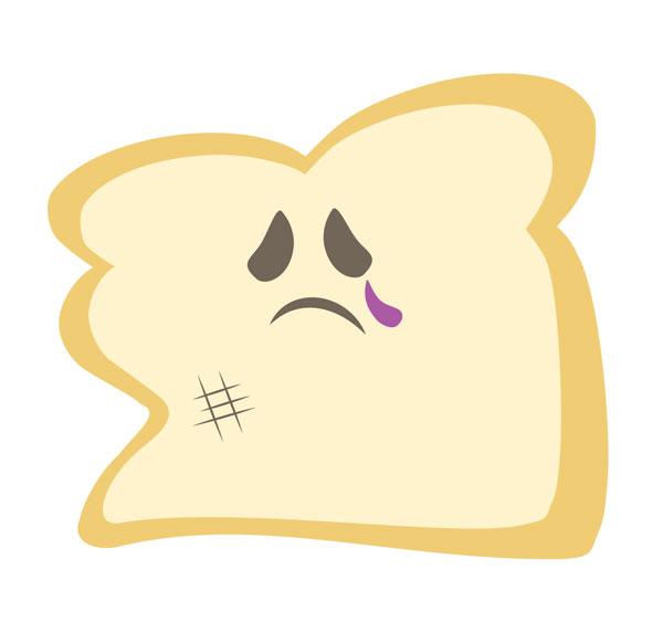 Smashed kirsten wahlquist illustration. Sad clipart sandwich