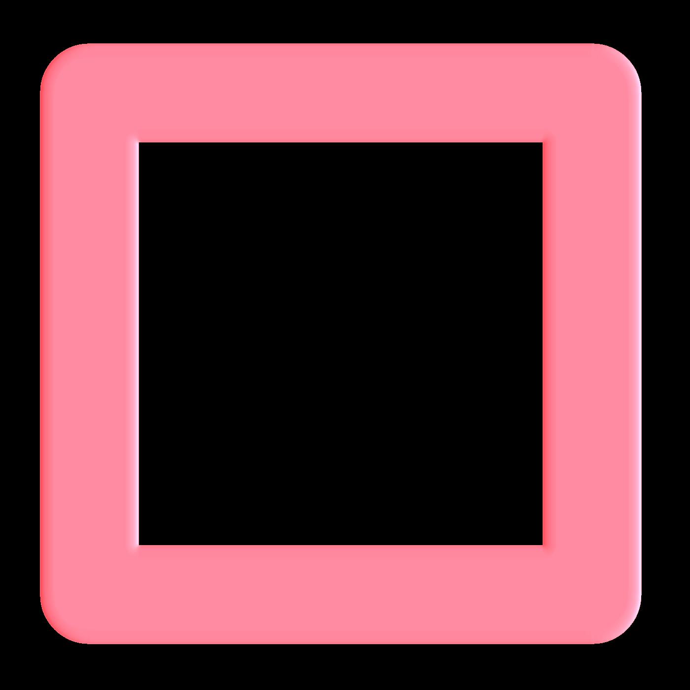 Pink starfish good marine. Square clipart facecam border
