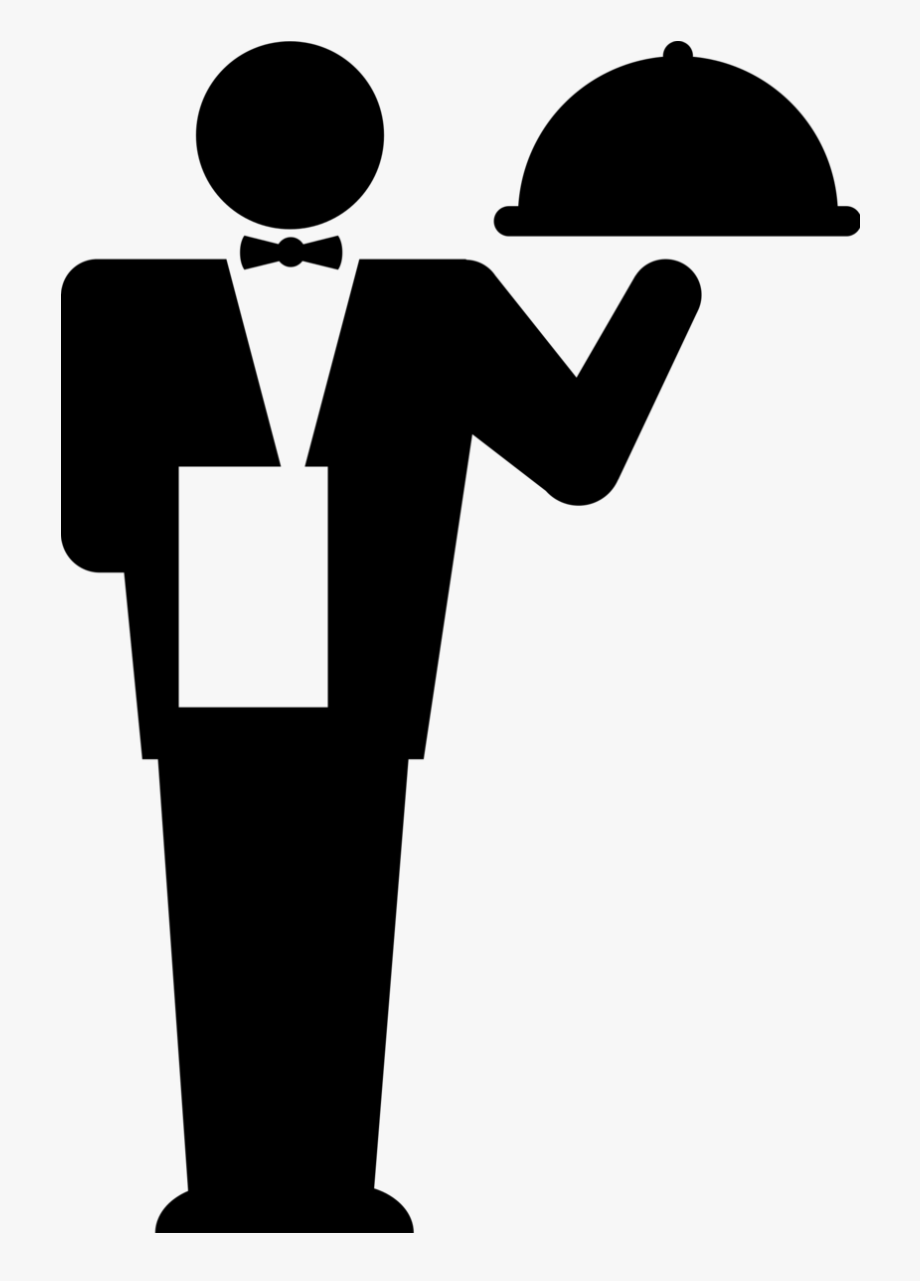 Waiter png free cliparts. Waitress clipart food service