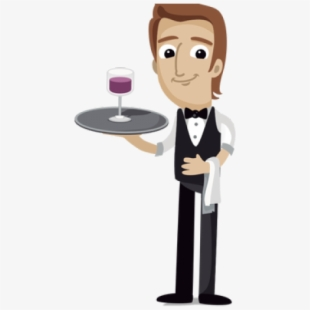 Free waiter cliparts silhouettes. Waitress clipart bartender