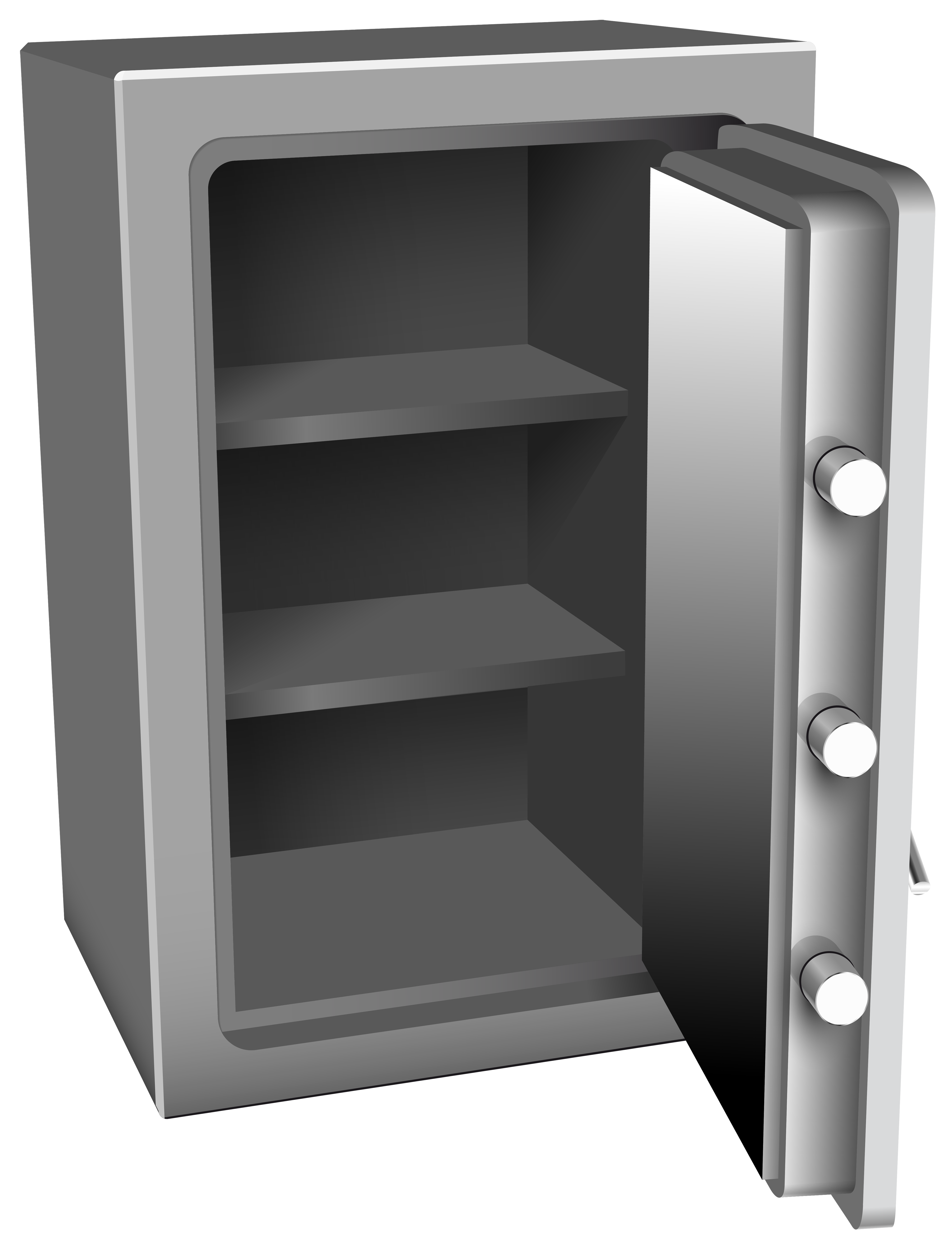 Working clipart safely. Open silver safe png