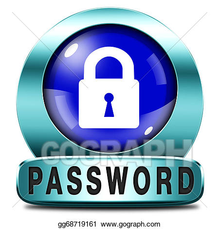 Stock illustration protected . Safe clipart safe password