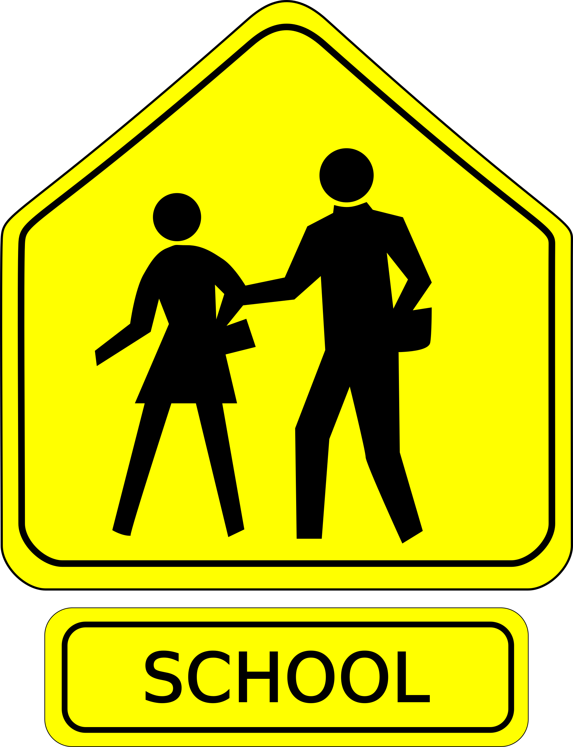 Zone signage on ne. Safe clipart school guard