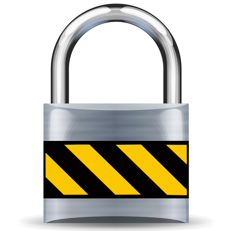 Secure padlock medium community. Safe clipart silver