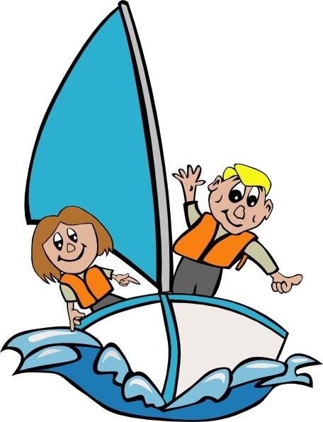 Kids sailing clip art. Sail clipart