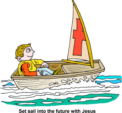 Image man in small. Boat clipart sailing boat