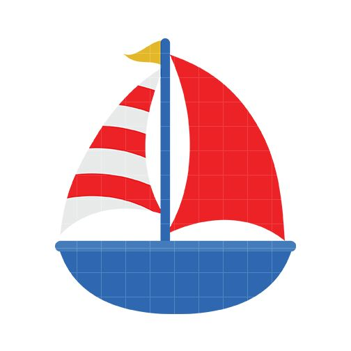 Boat clipart nautical. Cute sailboat panda free