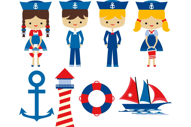 Sailor clipart. Nautical kids lighth design