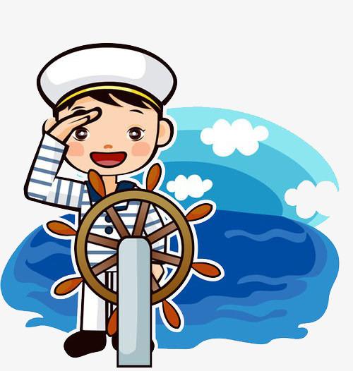 Sailor clipart. Salute cartoon hand drawing