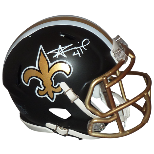 Alvin kamara autographed new. Saints helmet png