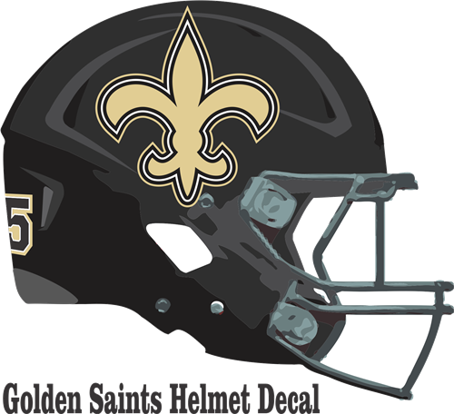 Golden football cheer decals. Saints helmet png