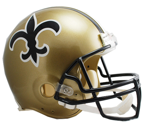 New orleans throwback vsr. Saints helmet png