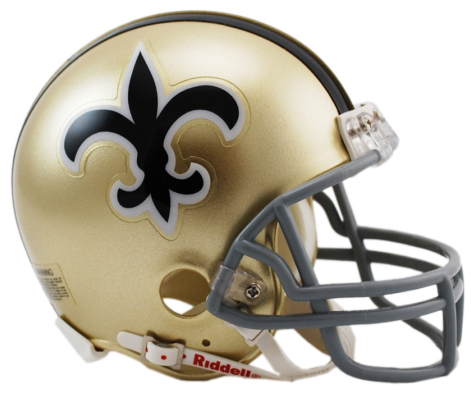 Saints helmet png. New orleans vsr mini