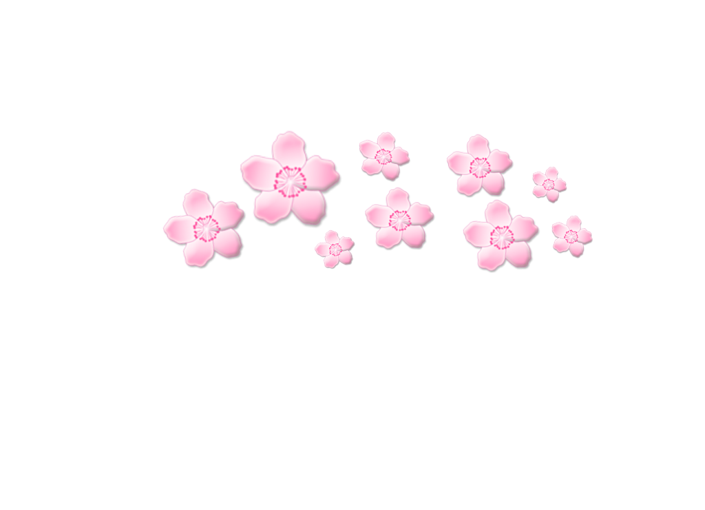 Sakura flower png. Freetouse cute pink crown