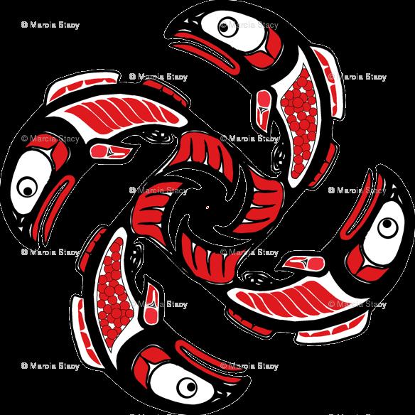 Image result for native. Salmon clipart aboriginal symbol
