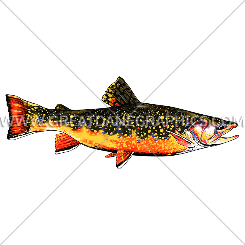 Salmon clipart cutthroat trout. Brook production ready artwork