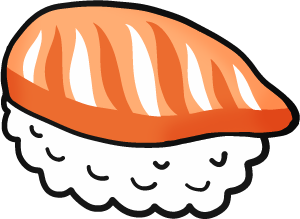 Free illustrations tegaky . Salmon clipart salmon sushi