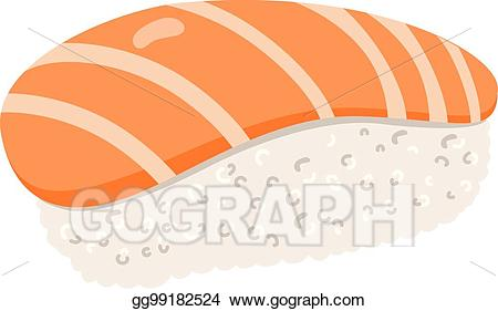 Salmon clipart sushi japanese. Vector art eps gg