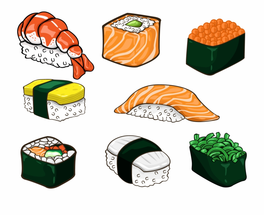 Food in anime free. Salmon clipart sushi japanese