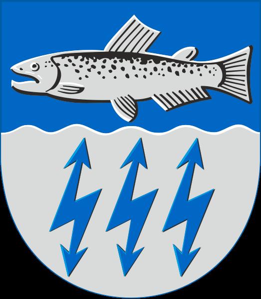 File muhos vaakuna wikimedia. Trout clipart svg