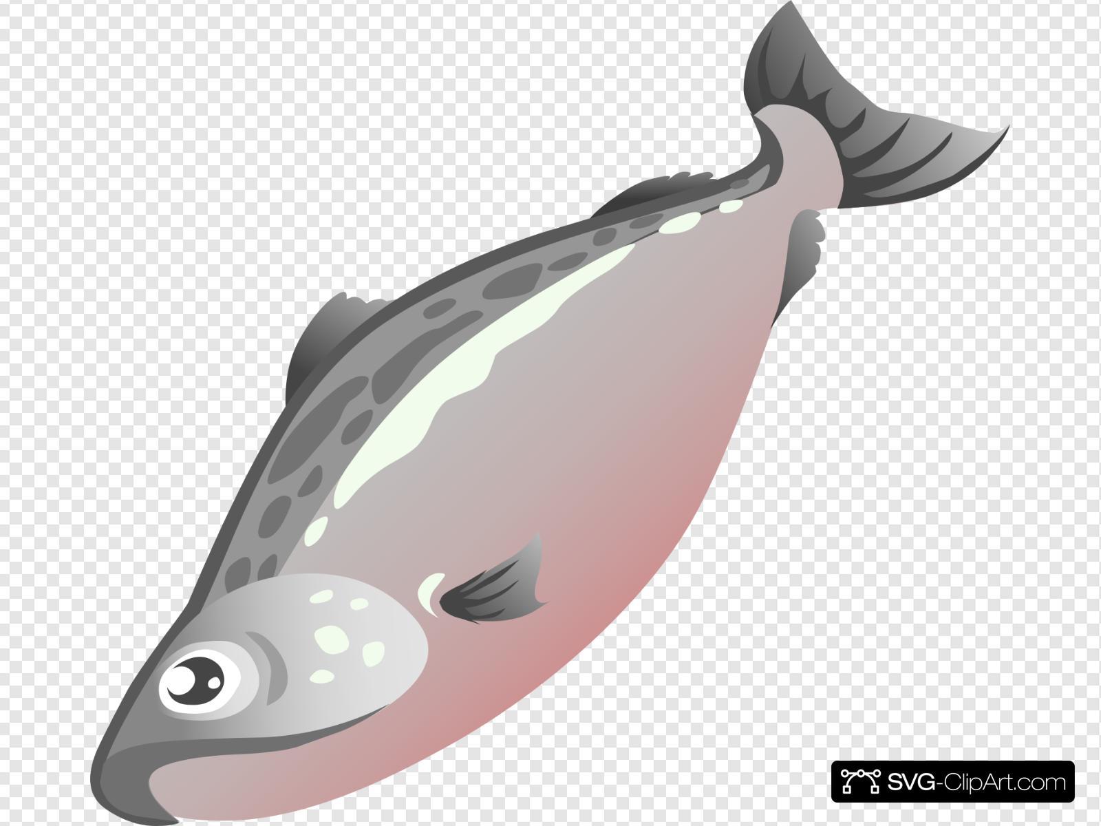Salmon clipart svg. Clip art icon and
