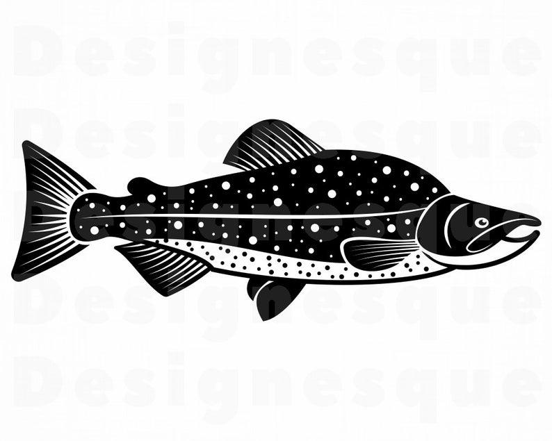 Alaska sockeye fishing fish. Salmon clipart svg