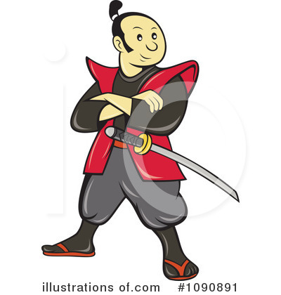Samurai clipart. Illustration by patrimonio royaltyfree