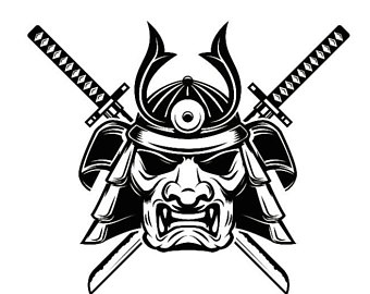 Samurai clipart. Etsy logo japanese warrior