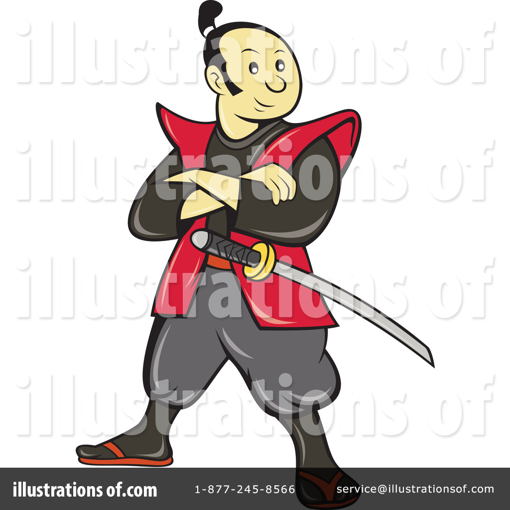 Illustration by patrimonio royaltyfree. Samurai clipart