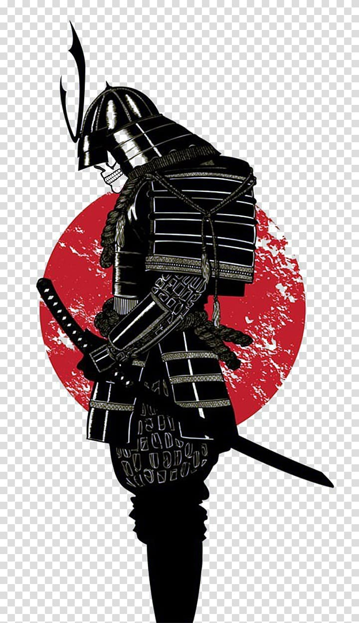 Male character holding black. Samurai clipart samurai warrior