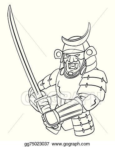 Samurai clipart samurai warrior. Eps illustration vector