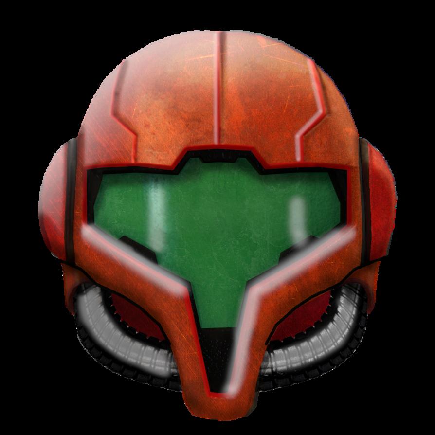Samus helmet png. By randar on deviantart