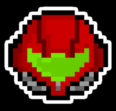 Retro aran sticker by. Samus helmet png