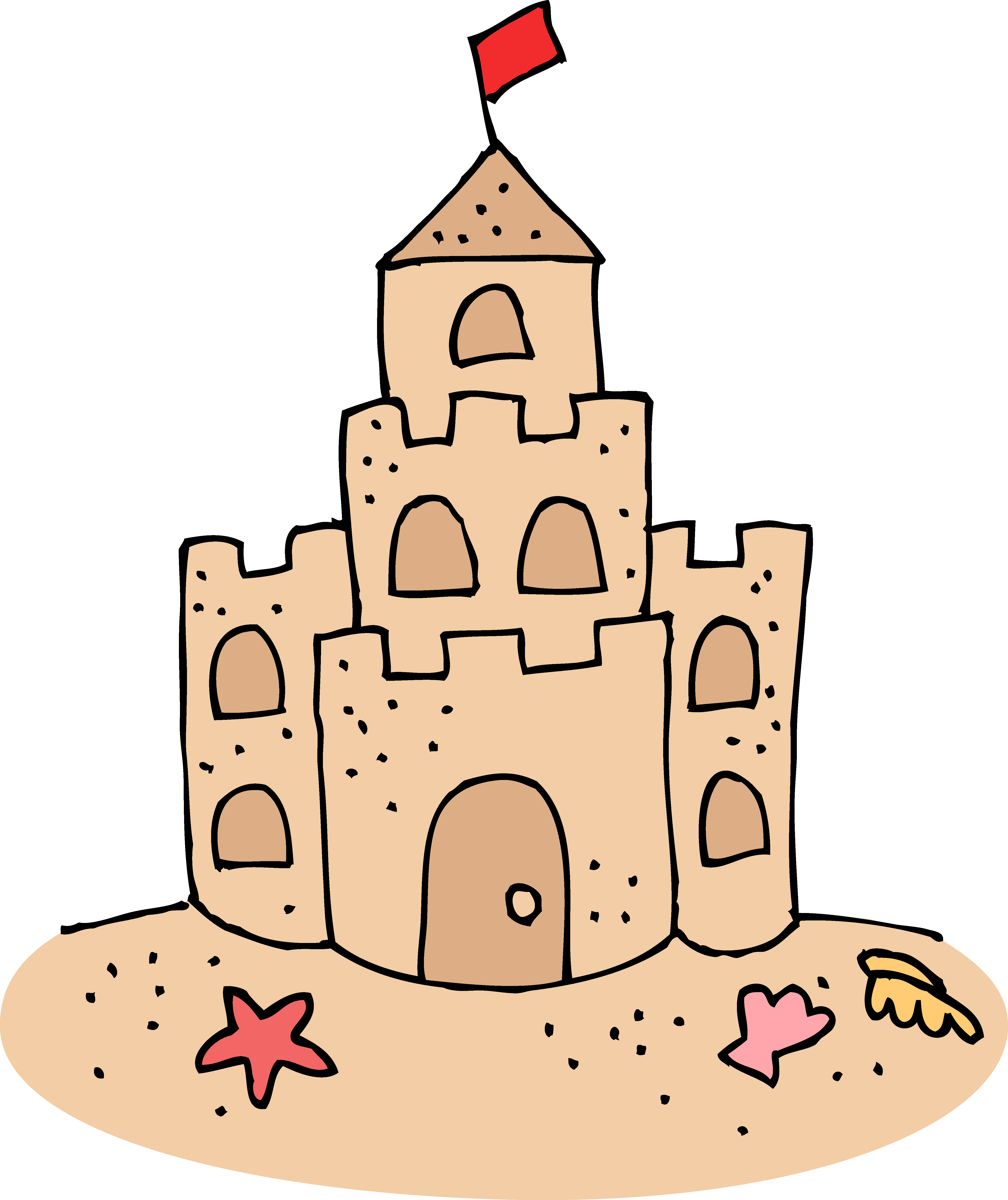 Sand castle free clip. Water clipart cute