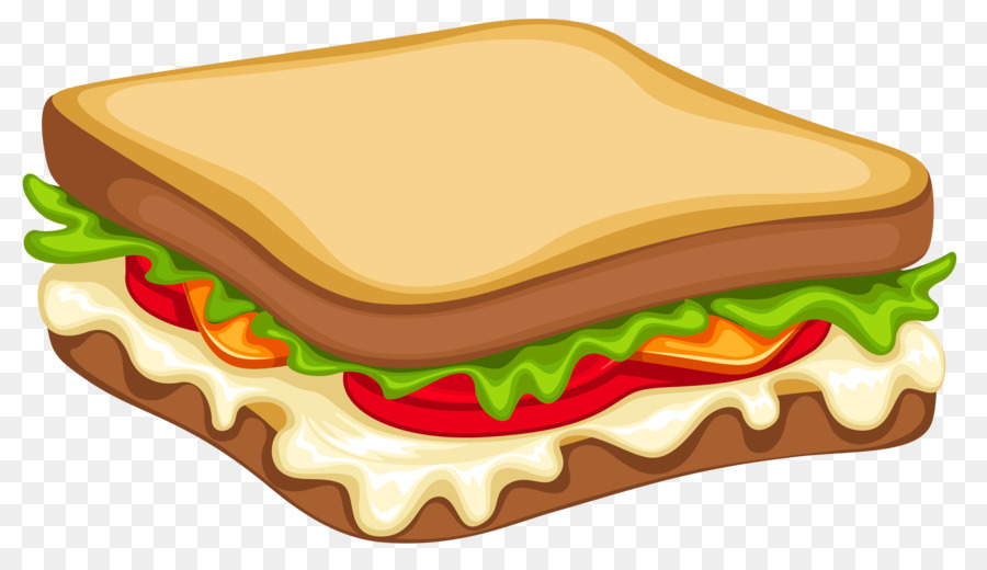 Submarine hamburger sausage egg. Sandwich clipart