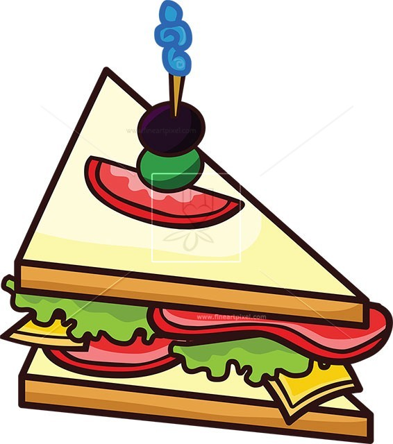 Sandwich clipart. Free vectors illustrations graphics