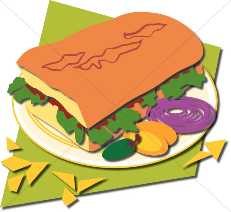 Church food. Sandwich clipart