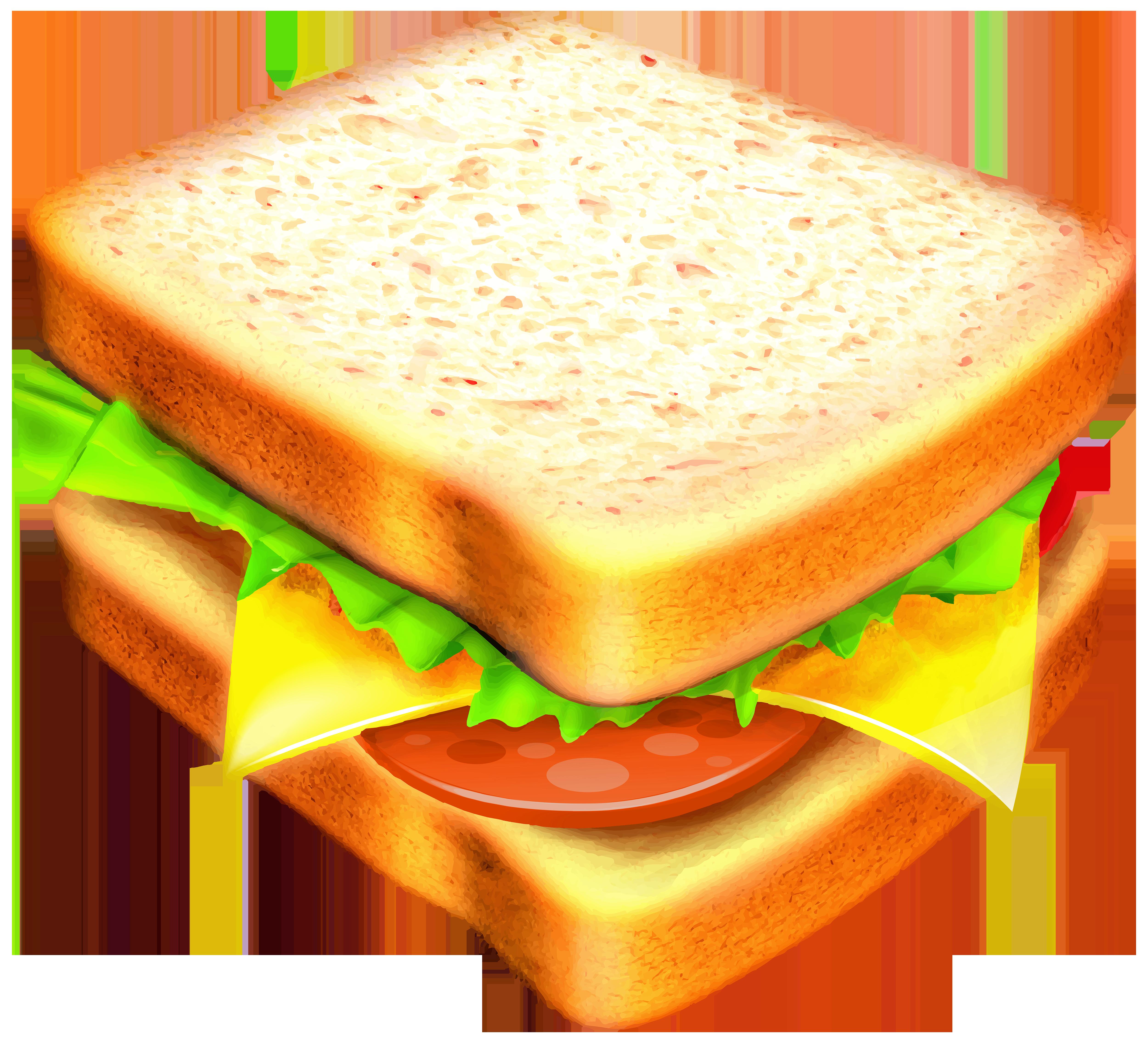 Transparent png image gallery. Sandwich clipart
