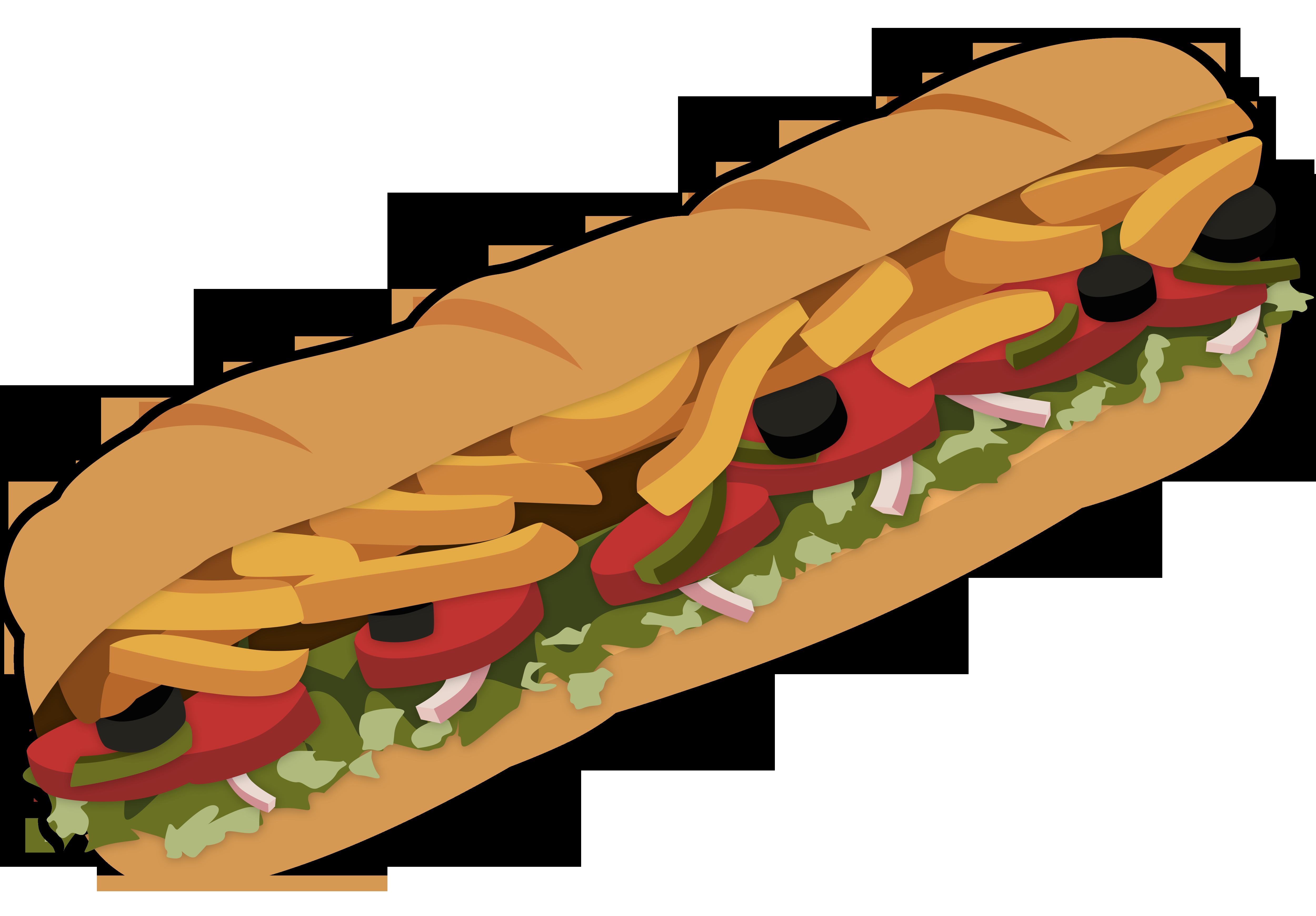 Submarine clipart transparent background. Cartoon sub sandwich free