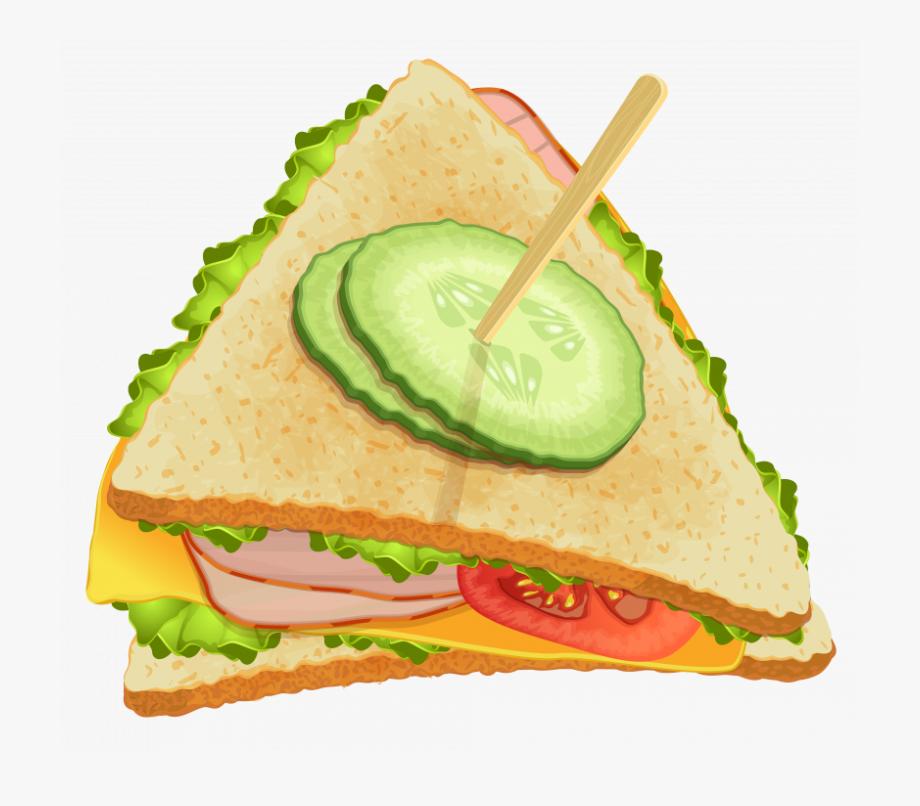 Sandwich clipart printable. Transparent