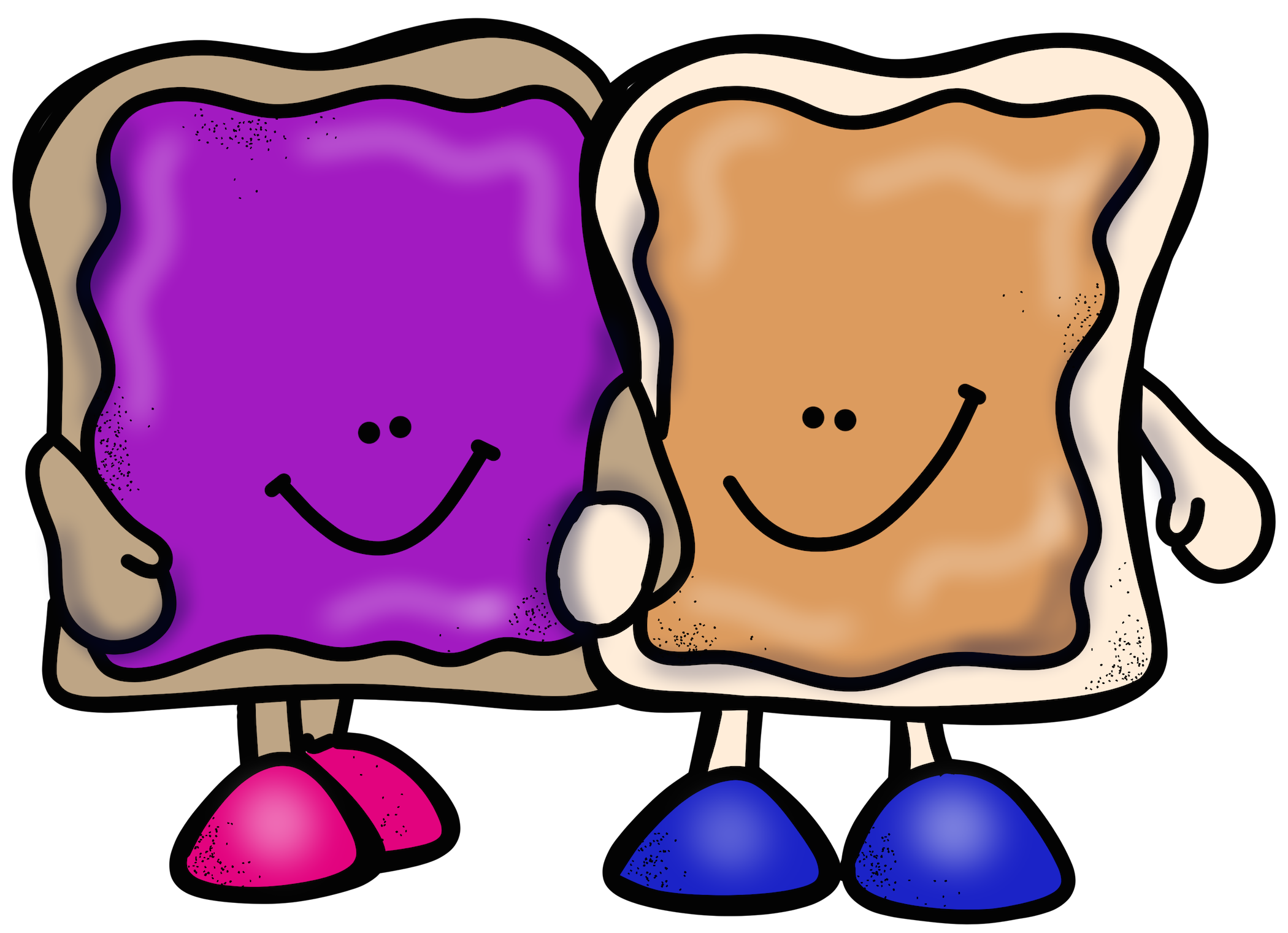Sandwich clipart printable. Peanut butter and jelly
