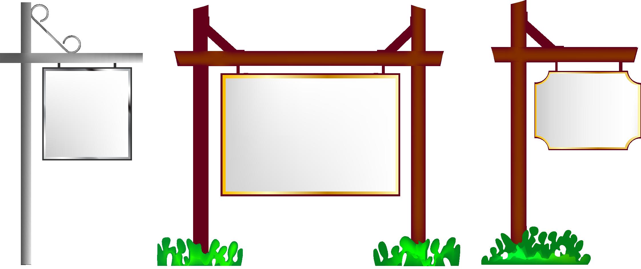 Square clipart square object. Clip art billboard transprent