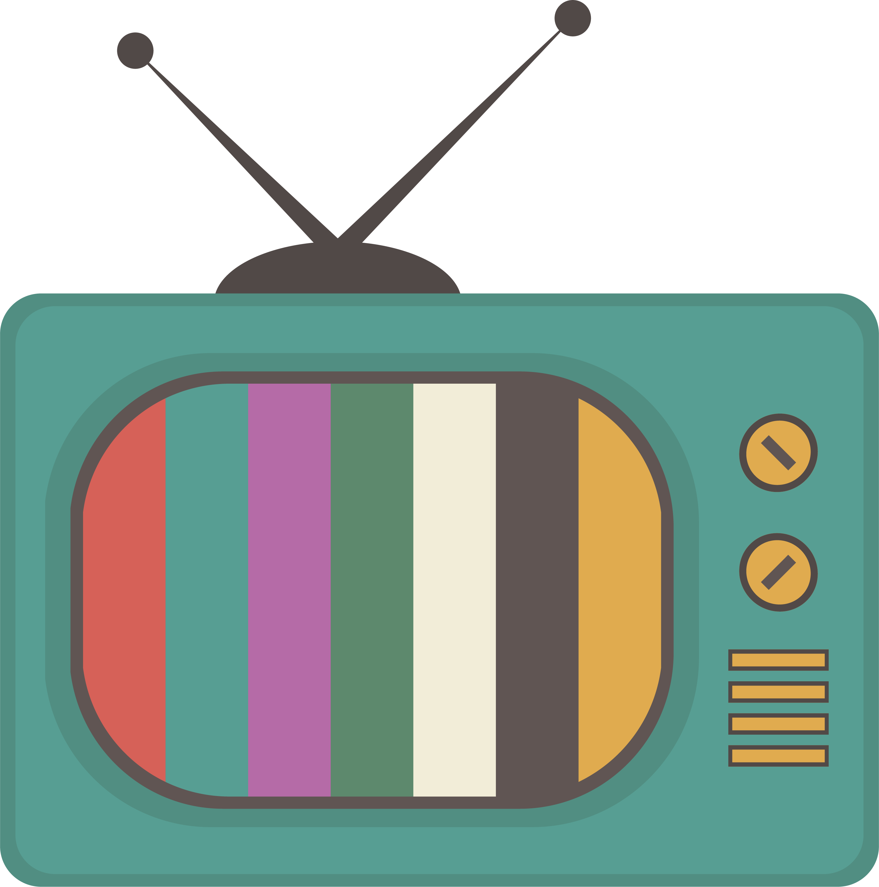 Retro old tv transprent. Television clipart square thing