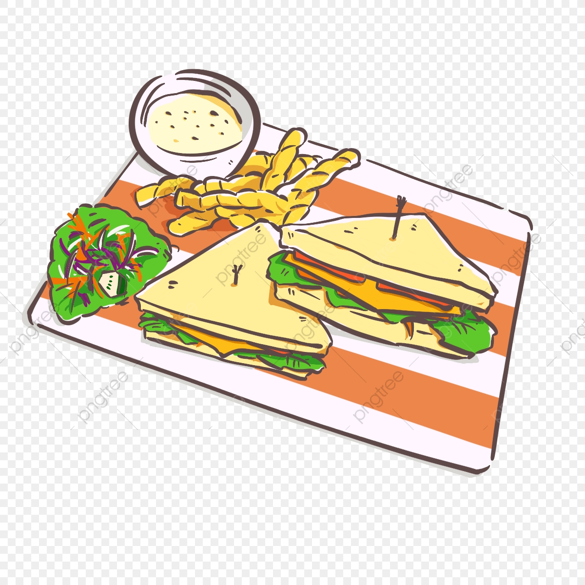 With chips and salad. Sandwich clipart sandwich chip