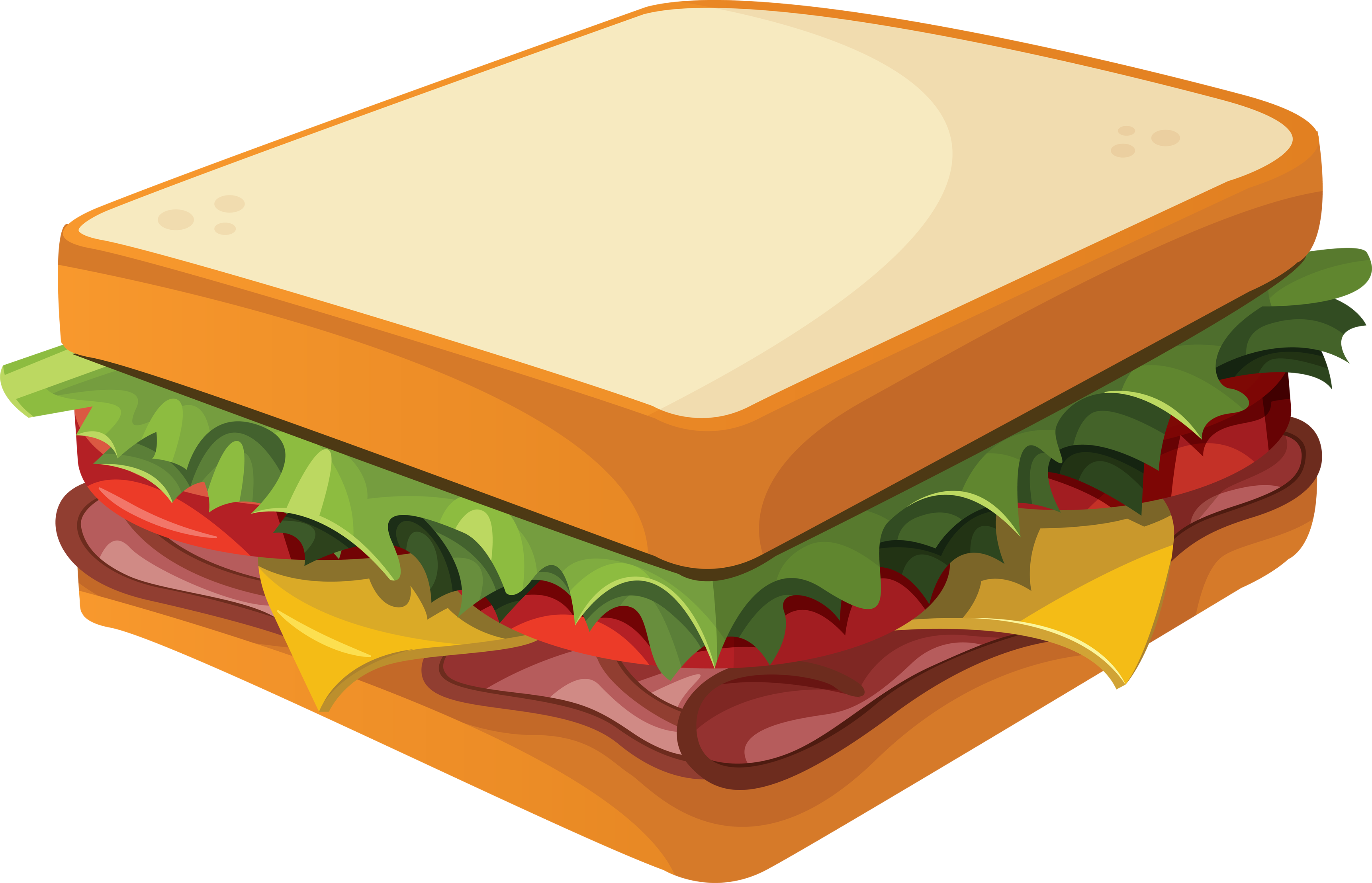 Sandwich clip art free. Luncheon clipart table full food
